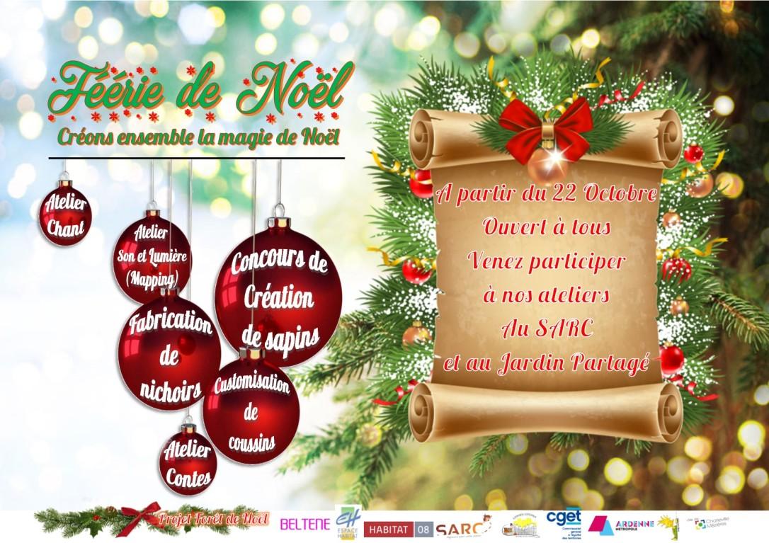 affiche féerie de Noël
